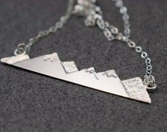 Silver Mountain Range Necklace