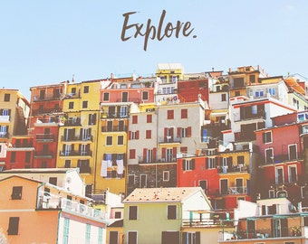 Wanderlust Photo, Travel Art, Manarola Cinque Terre, Cinque Terre Art, Cinque Terre Prints, Wanderlust Print, Cinque Terre Photos