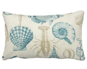 Outdoor Pillows,Outdoor Throw Pillows,Patio Pillows,Seaside Pool Pillows, Pillow Covers, Lumbar chair Pillows,Shell pillows, florida pillows
