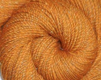 Handspun yarn - Merino wool / nylon yarn, Worsted weight - 375 yards - Sparkling Sands 2