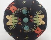 Space Alien Pouf Ottoman- Pouf- Footstool- Octagonal Ottoman- Outer Space Creatures- by beckyzimmdesign
