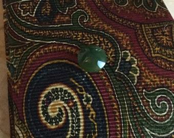 Vintage just jade tie clip