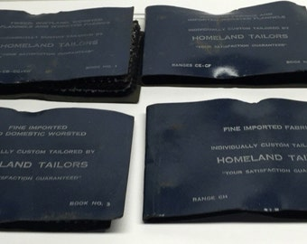 Fabric Swatch Book Tailor wool suit swatches Homeland Company books 1-4