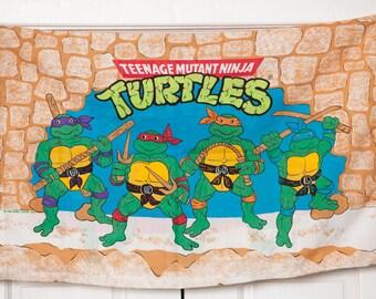 Vintage 1988 Teenage Mutant NINJA TURTLES Pillow Case