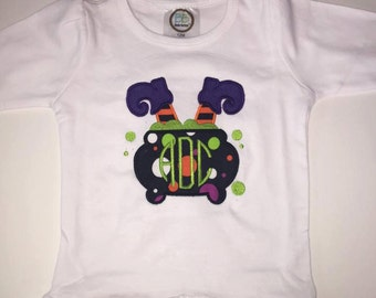 Monogrammed Witch Boot Shirt