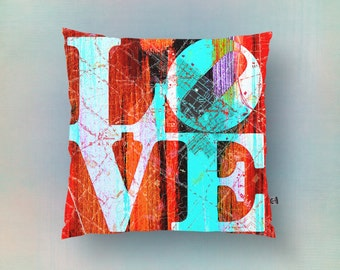 Bucks County Love Throw Pillow Philadelphia Suburb Telford Indoor or Outdoor Accent Home Decor