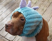 Dinosaur Dog Snood MADE TO ORDER Green and Lavender