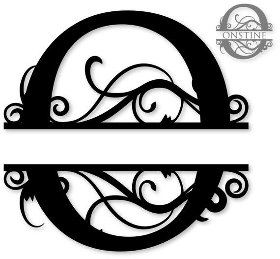 flourished split monogram o