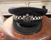 British Police Cap with Metropolitan Police Emblem badge