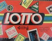 Vintage Milton Bradley Lotto Game/1932 Treasure Chest/Collectible Board Game/Winter Family Fun/Cabin Decor/Altered Art Supply/Mixed Media