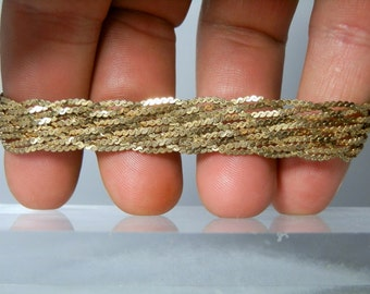 Vintage Silver Bracelet with Gold Vermeil Stamped 925 HCT and Italy 8 Inches Woven Braided Silver Lobster Claw Clasp Excellent Condition