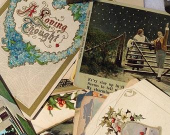 Vintage Postcards Souvenir Cards 1907 Thru 1969 Wen Sander Metal Box 1960
