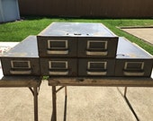 Vintage Industrial Record Files Inc 2-Drawers, Set of 3