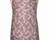 Modern Retro fabric 'Kitchen Basics' Apron - Christmas Birthday, Gift Idea . Woman's / Ladies . HANDMADE .