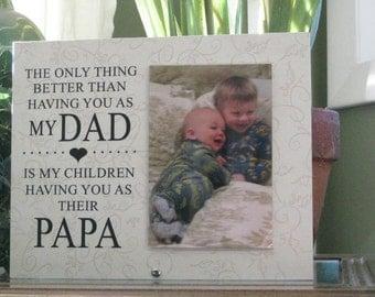 papa gift select any grandfather name papa frame papa picture frame papa photo frame for papa personalized papa gift 4x6 photo