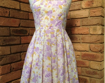 Vintage inspired 1970s mauve and mustard sundress Size 6-8 Aud