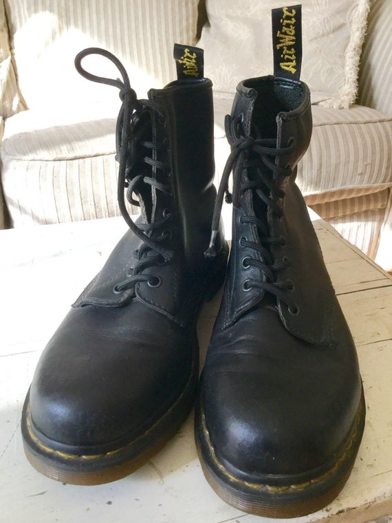 doc martens black soft leather boots