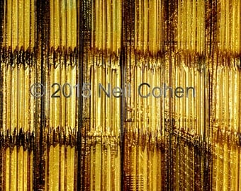 Hanging curtains interior view Art Institute of Chicago archival gold color inkjet photography