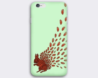 Squirrel phone case // Illustrated Animal phone case // iPhone 7 / 7 Plus / 6 / 6S / SE / 5 / 5S // Samsung Galaxy S7 / S6 / S6 Edge / S5