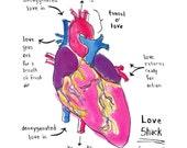 Anatomical heart print