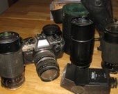 Olympus 35mm With Flash and 3 Extra Lens collectible