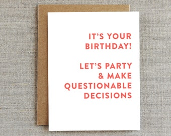 Funny Birthday Card, Happy Birthday Card, Birthday Card for Her, Birthday Card for Him, Birthday Card for Boyfriend, Birthday Card Friend