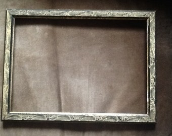 Antique frame w/painted tortoise finish-gold leaf