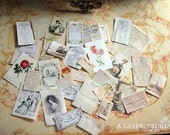 PDF Romantic Vintage Ephemera for Dollhouse Miniature 1/12 Scale DIGITAL DOWNLOAD