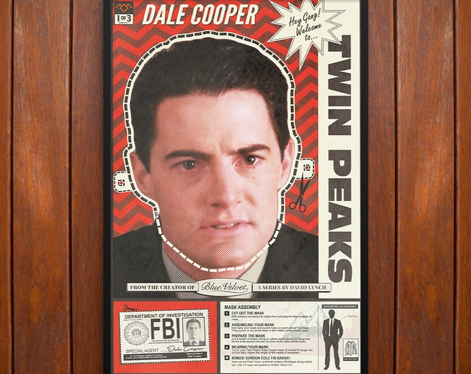 Twin Peaks Poster or Framed Print, Agent Dale Cooper Mask