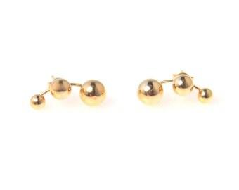 Vintage Molecule Post Earrings in 14kGold