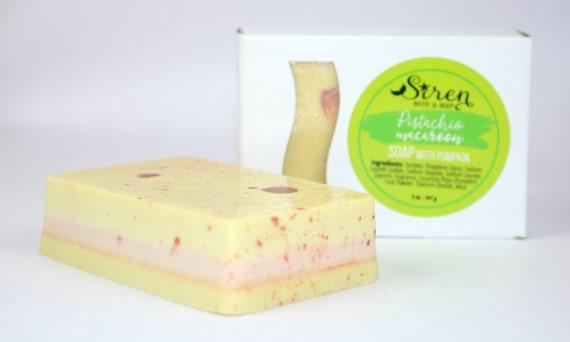 Pistachio Macaroon Soap . Soap . Pistachio . Almond . Macaroon