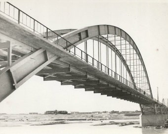 Bridge - Abstract Photo - Vintage Photo - Black and White Real Photo Postcard - Fine Art Photography - RPPC - Found Photo