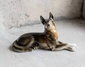 Vintage Dog Ceramic Figure, Statuette or Totem