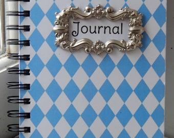 5 x 7 Blue Diamond Lined Journal