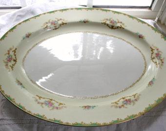 Beautiful Noritake China Platter Rodena and Three B & B Plates