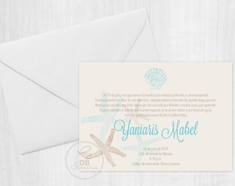 Sea Themed Invitation