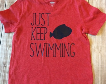 Toddler Boys Tee, Disney Just Keep Swimming, Finding Dory, Finding Nemo, Toddler Life, Disney Vacation