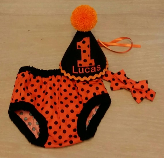 Boy Cake Smash Outfit Orange Black First Birthday Outfit