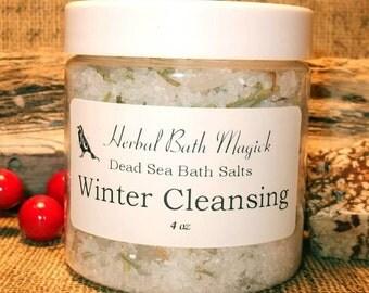 WINTER MAGICKAL CLEANSING Bath Salts 4oz Jar
