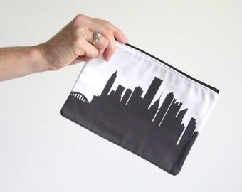 Pittsburgh City Clutch Purse - 6x9 - Skyline Silhouette