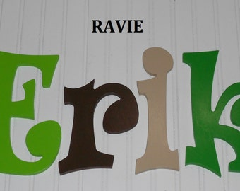 "SALE :) Wall Letters - Painted Wood - Ravie - plus other Fonts - Gifts and Decor for Nursery, Home, Playrooms, Dorms - 12"" Size"