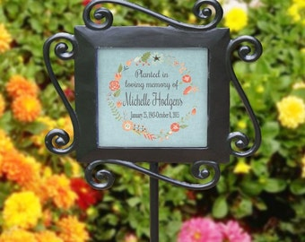 Personalized Any Message Garden Stake Mother's Day Gift Grandma's Garden Custom Flowers