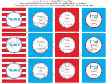 Printable Favor Tags - Baseball Party - amy patrick prints
