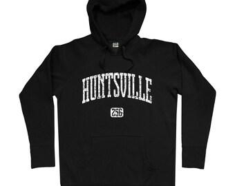 Huntsville 256 Hoodie - Men S M L XL 2x 3x - Huntsville Hoody, Sweatshirt, Alabama, UAH - 4 Colors