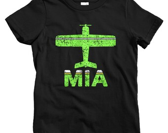 Kids Fly Miami T-shirt - MIA Airport - Baby, Toddler, and Youth Sizes - Miami Florida Tee, South Beach, Travel, Gift - 2 Colors