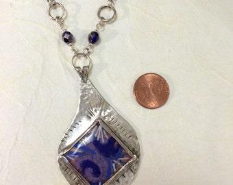 Blue Jazz - enamel on sterling silver