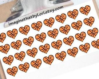 Happy Basketball Planner Stickers for Erin Condren Planner