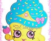 Shopkins Cupcake Queen No Sew Applique Patch