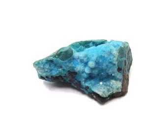 Chrysocolla Druzy Mineral Specimen 1 Raw Crystal 21mm x 29mm x 13mm Natural Rough Stone (Lot 9998) Rough Crystal