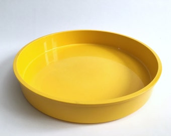 Large Yellow Melamine Plastic MOD Bowl Serving Platter by Gunnar Cyren for Dansk Designs Sweden